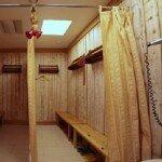 Обустройство раздевалки в бане
