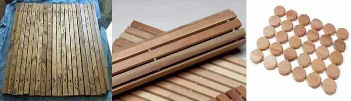 деревянные коврики