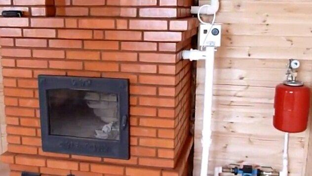 Отопление дома печью